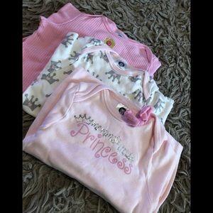 Newborn Baby Girl Sleepers Bundle